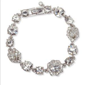 Givenchy silver tone crystal bracelet